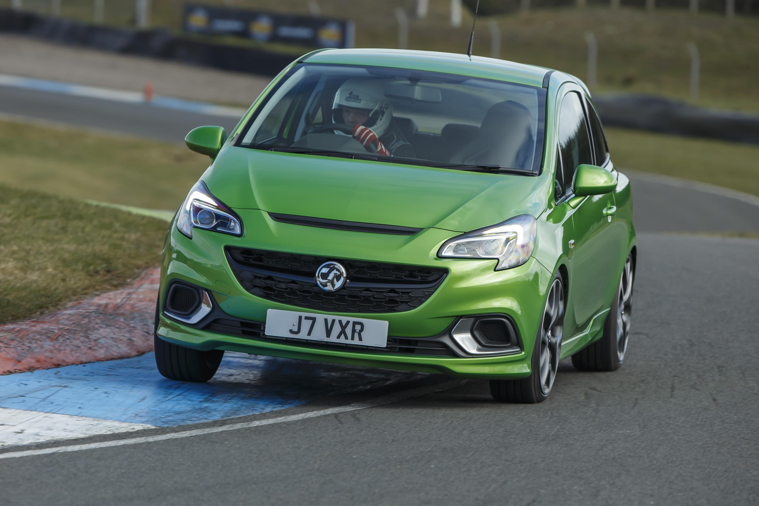 Vauxhall Corsa rally in green