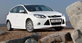Ford Focus front view in white