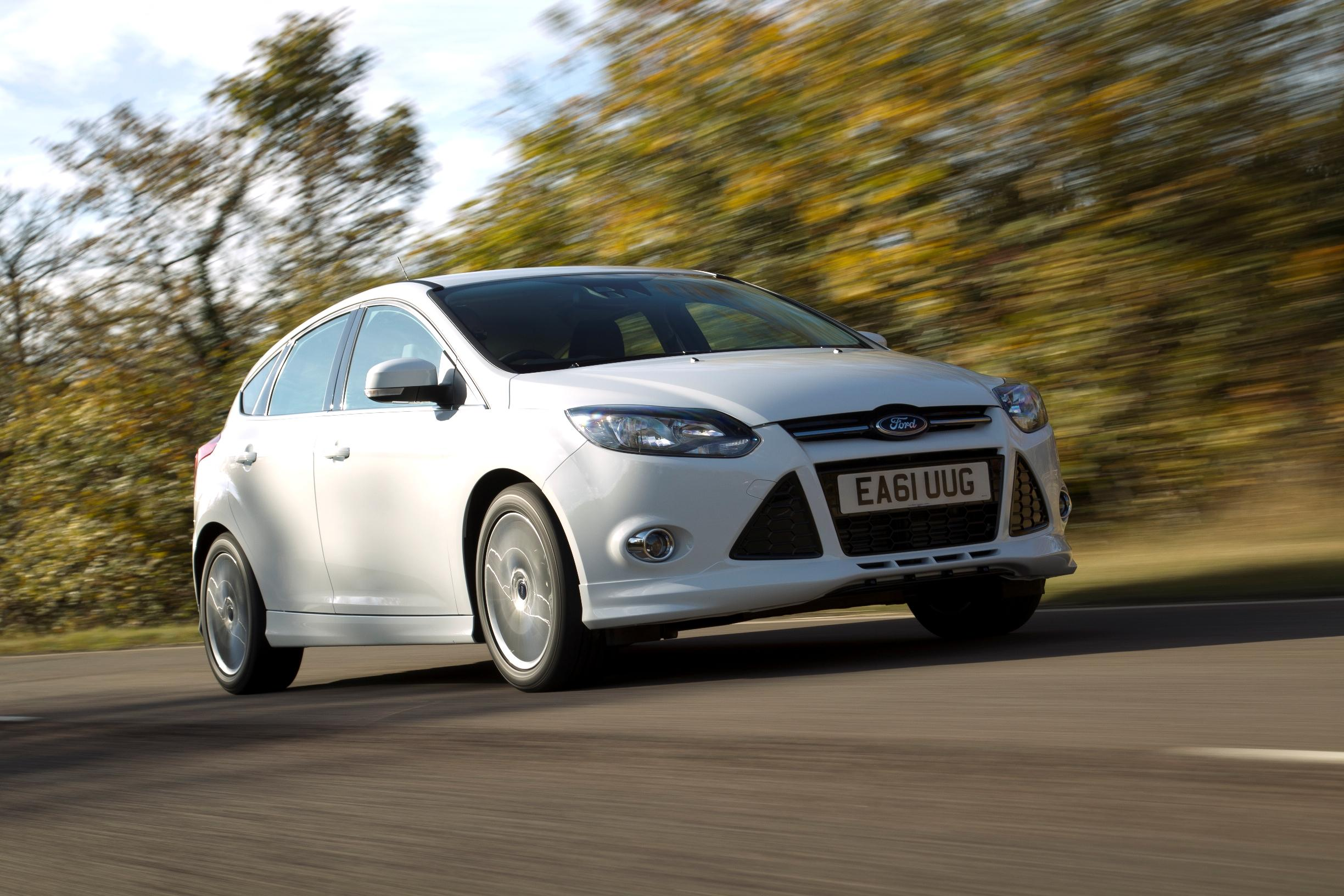 Ford Focus front view on road