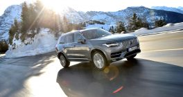 Volvo XC90 in grey - snow background 4x4