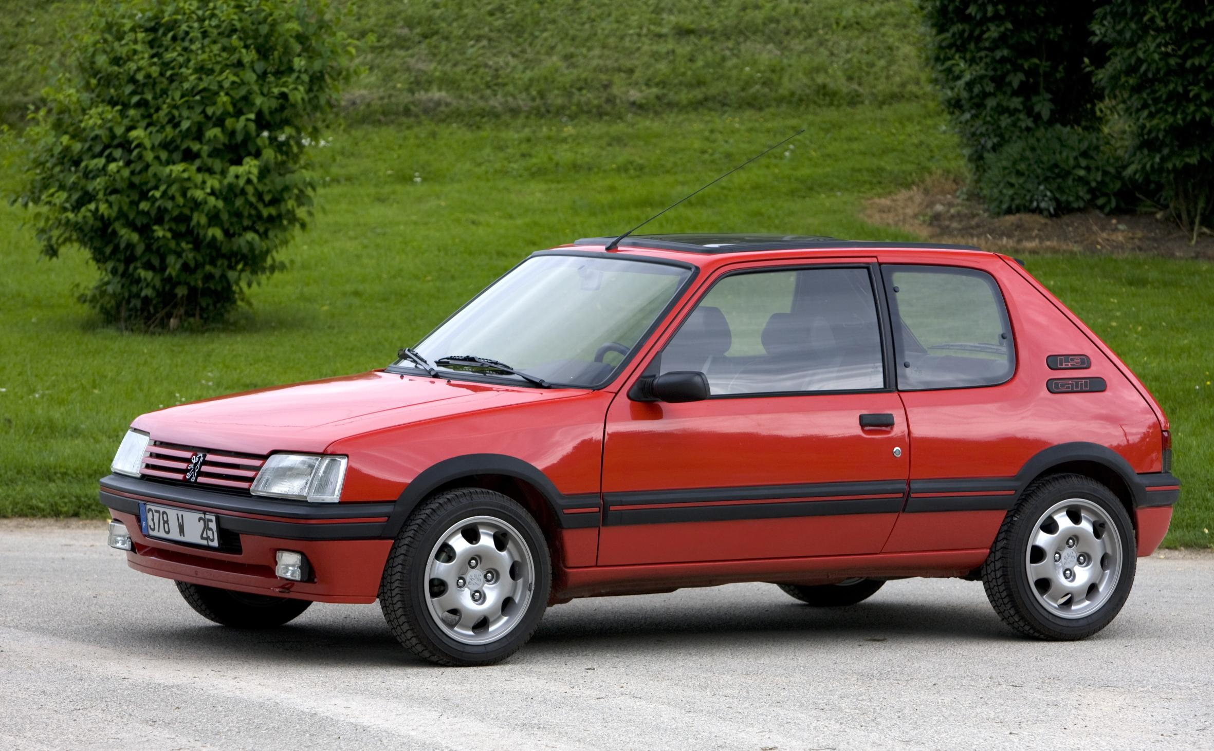 Peugeot 205GTI side view red