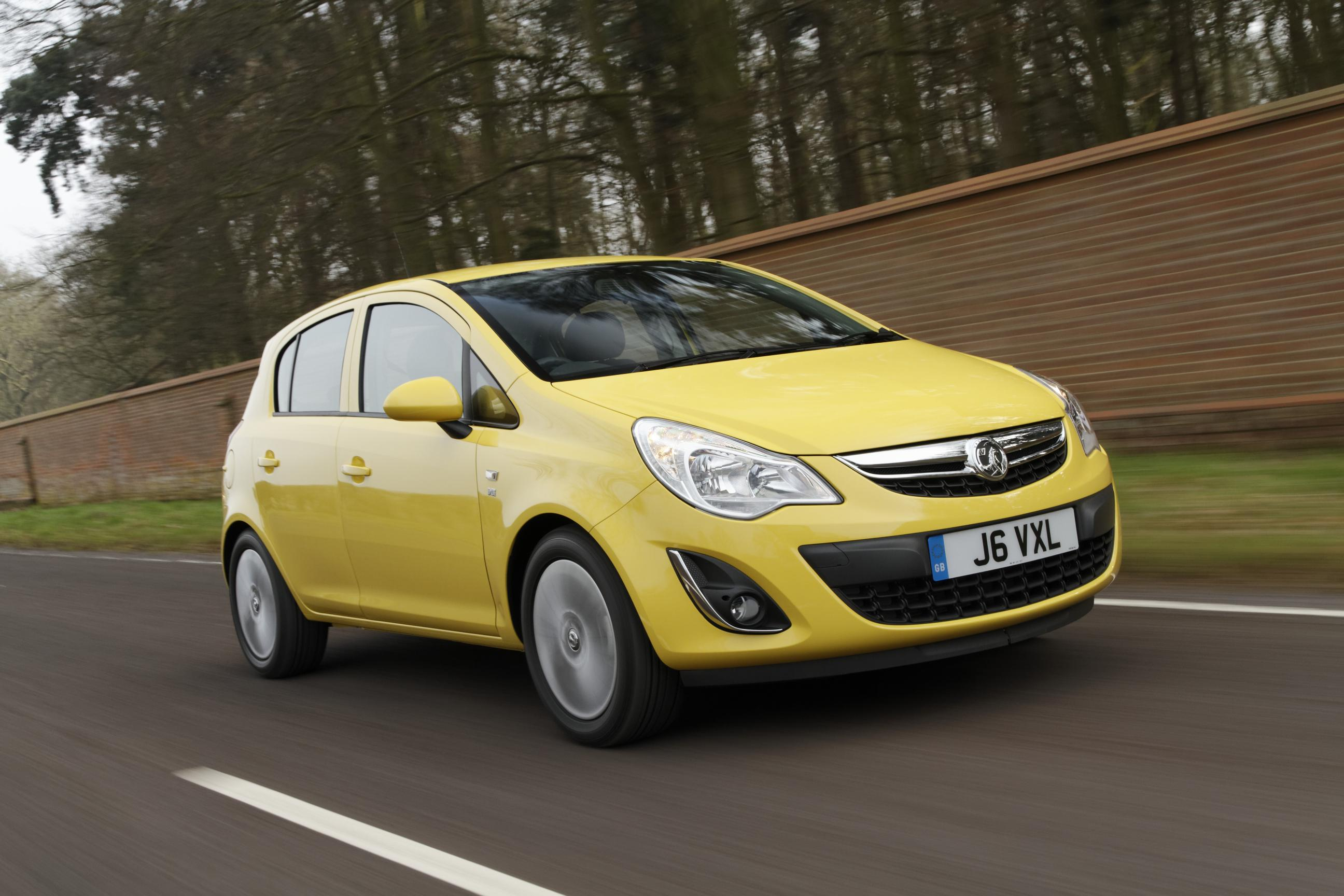 Vauxhall Corsa front view yellow