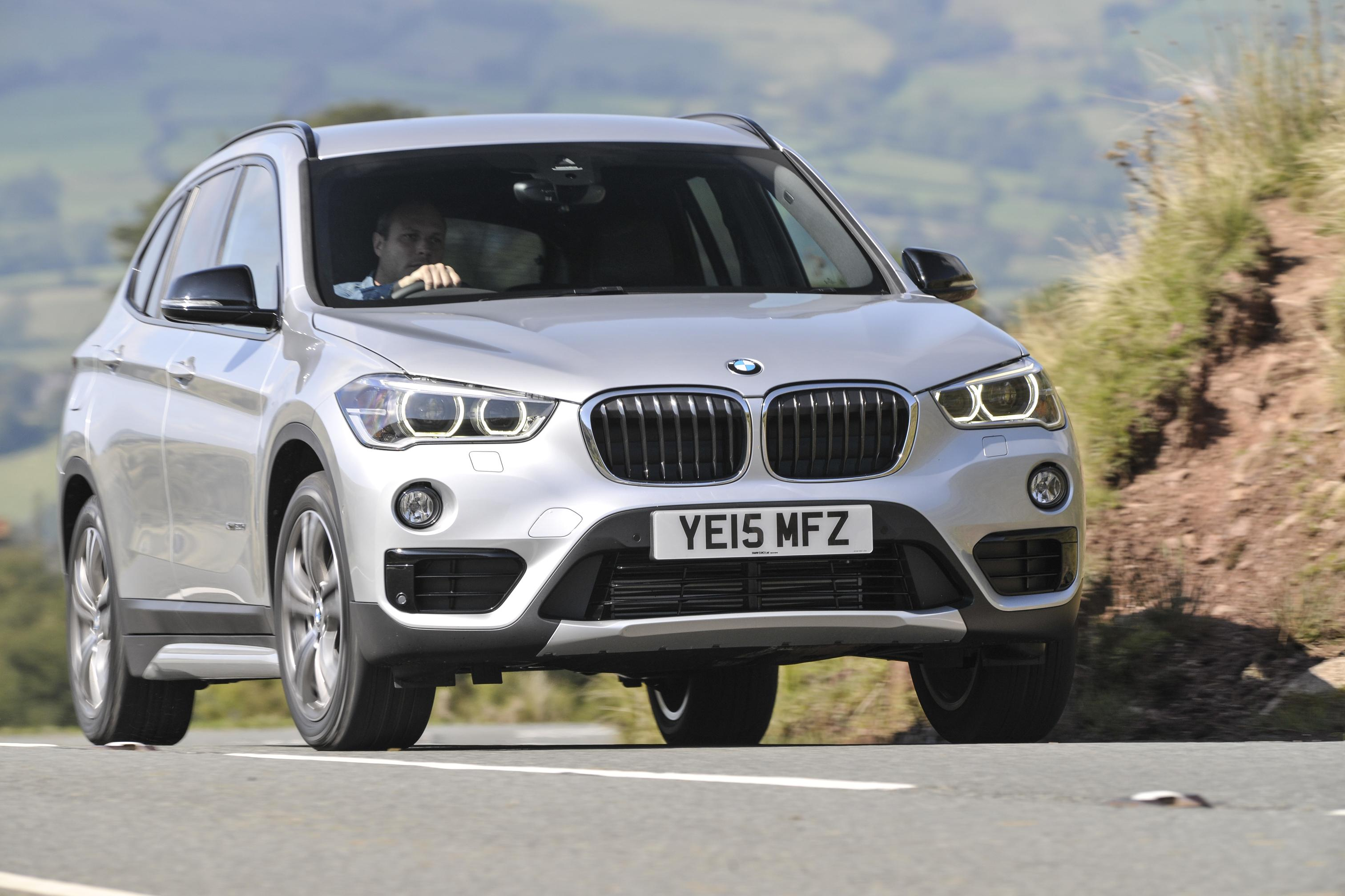 BMW X1 front view silver