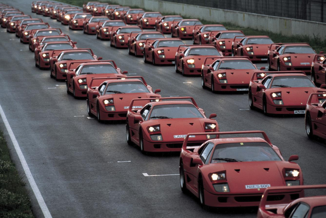 F40 multiple on road