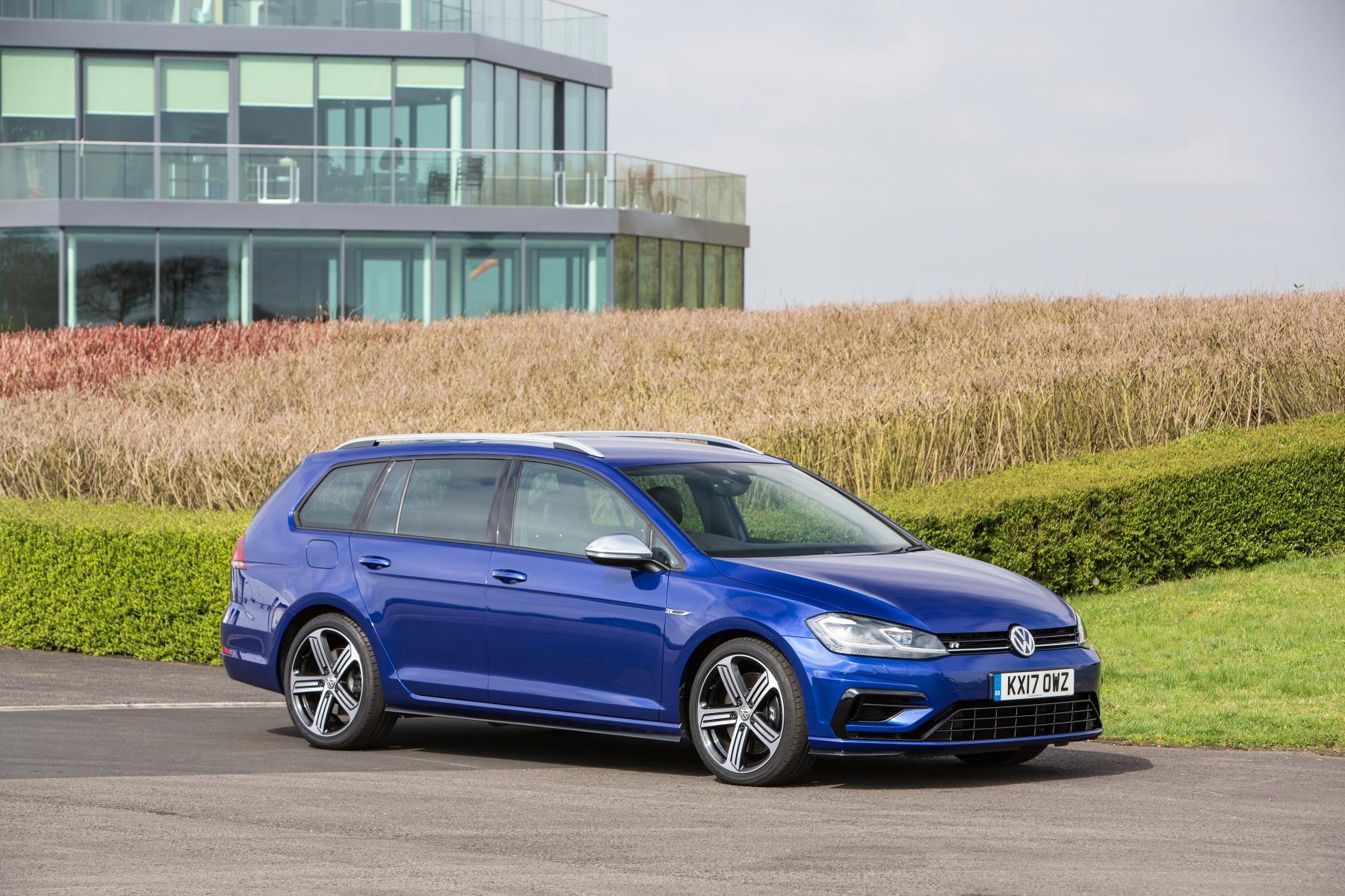 VW Golf R Estate in blue