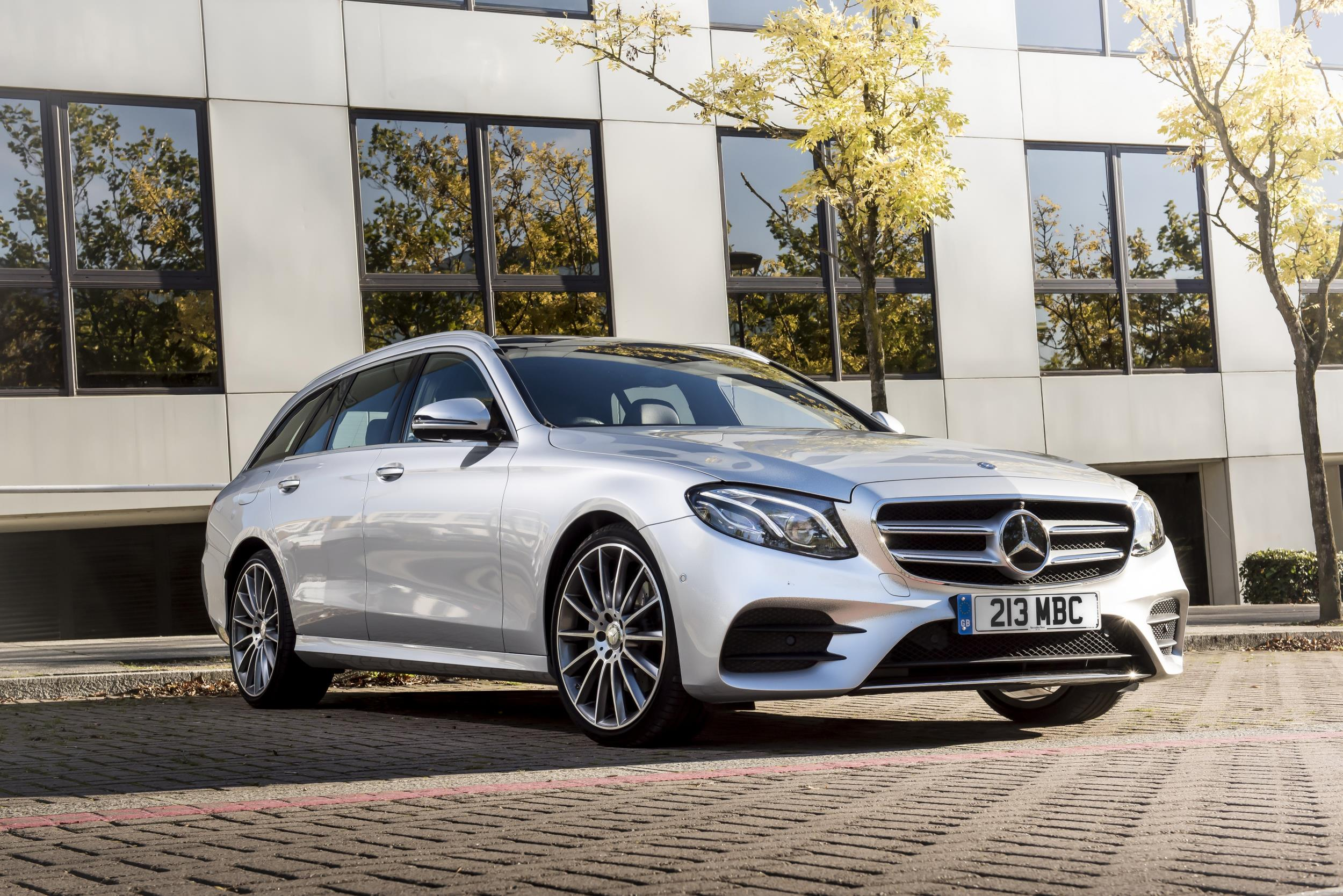 Mercedes E Class parked front view