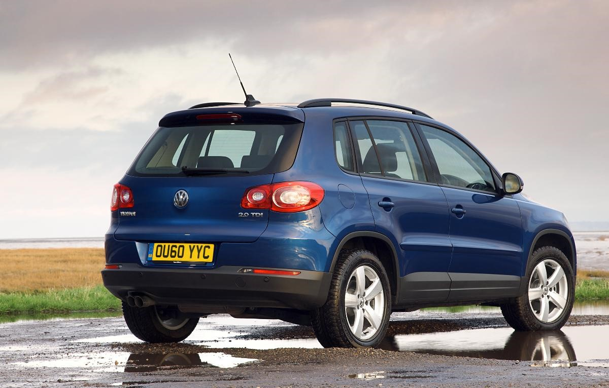 Tiguan 2010 rear view in blue