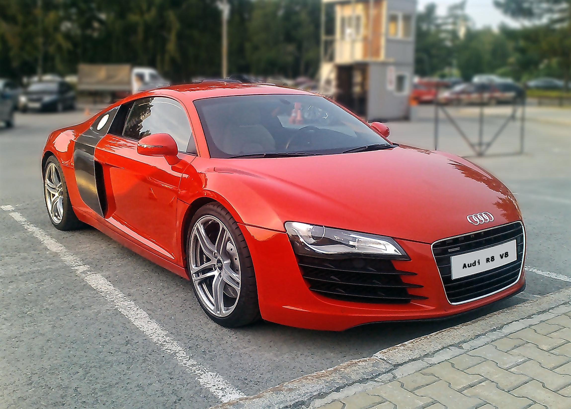 Audi R8 AA front view in red