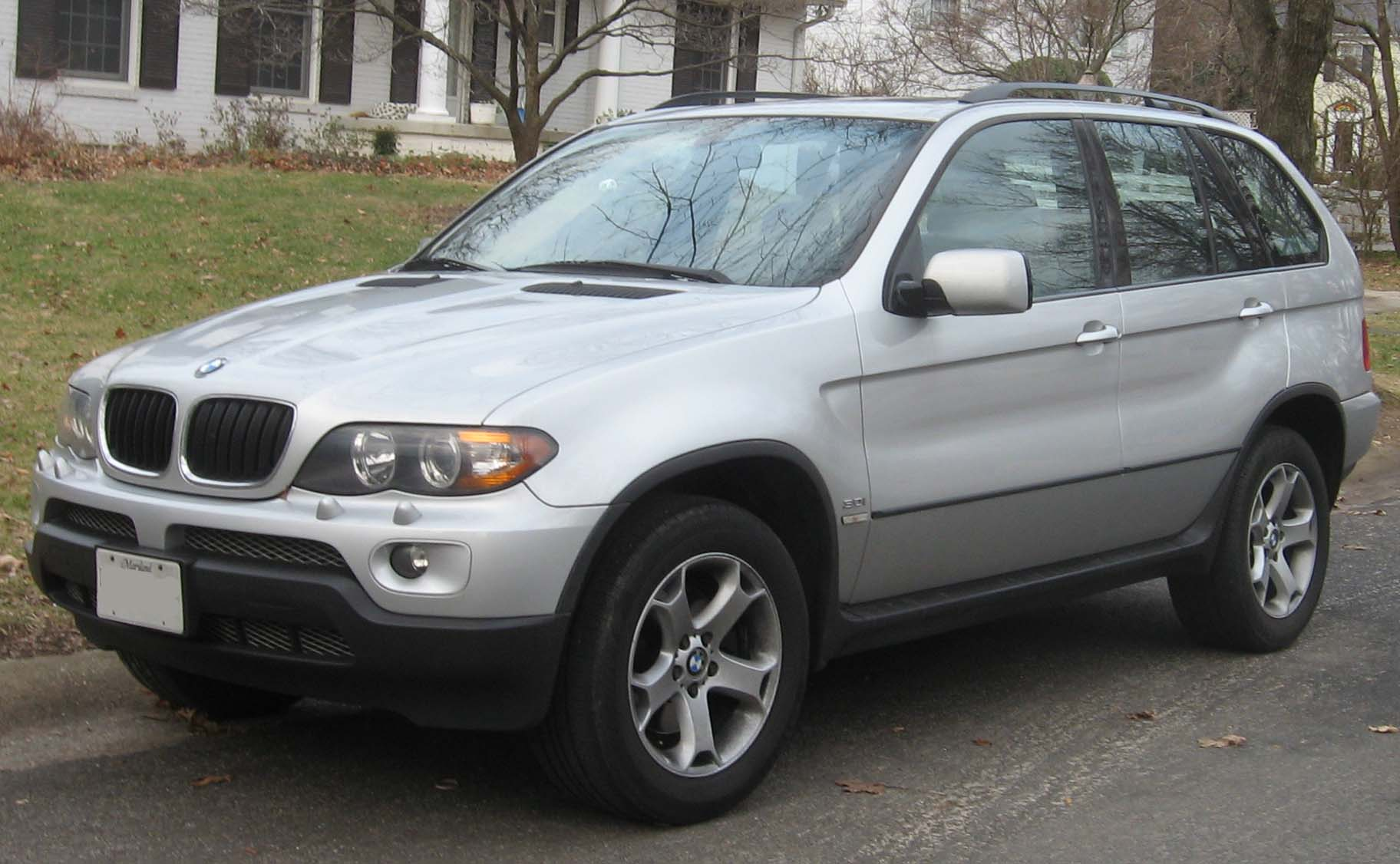 BMW X5 front view in silver
