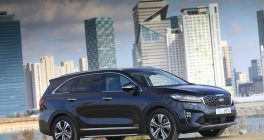 New Kia Sorento in Korea Black with SkyLine of South Korea