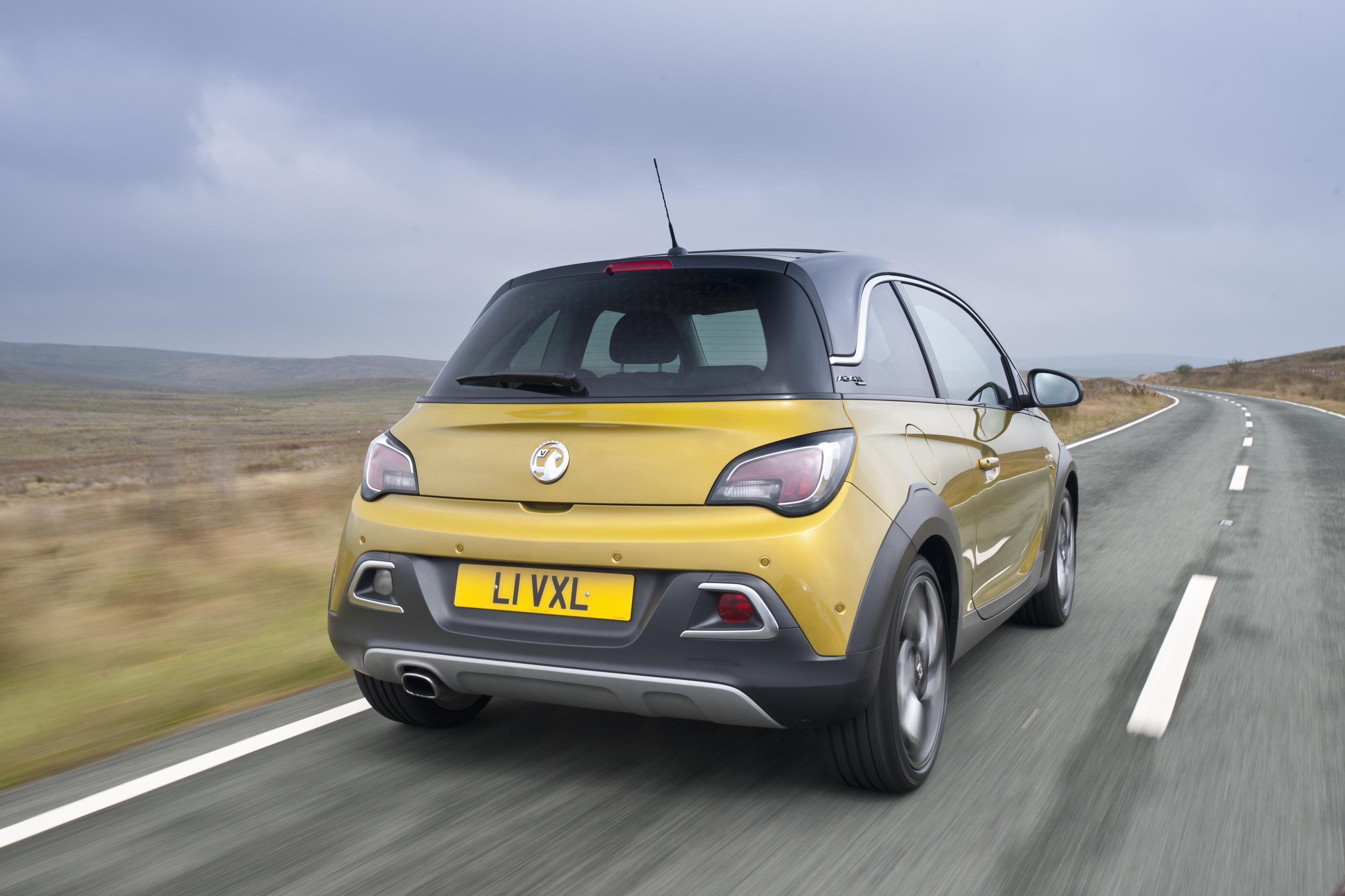 Vauxhall Adam rear view in yellow