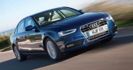 Audi A4 front view on road